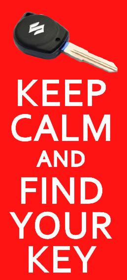 keep calm and find your suzuki key – autókulcs másolás